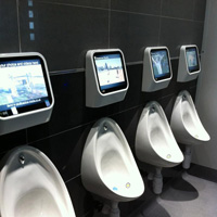 Unique Urinals at Jak's Bar Isle of Man
