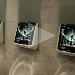 Urinetown Advertises at the Urinal