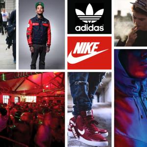 Often seen wearing sports brands, enjoy clubbing and hip-hop