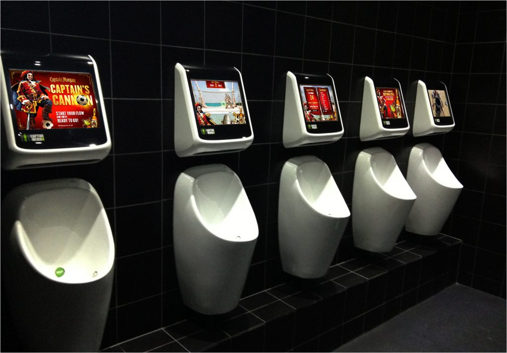 Captive Media Cool Urinal Games For A Unique Washroom